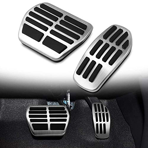 SODIAL Car Pedals For X-Trail T31 Qashqai J10 Car Stainless Steel Mt Pedal Cover For X-Trail 2010-2013 Qashqai 2012-15