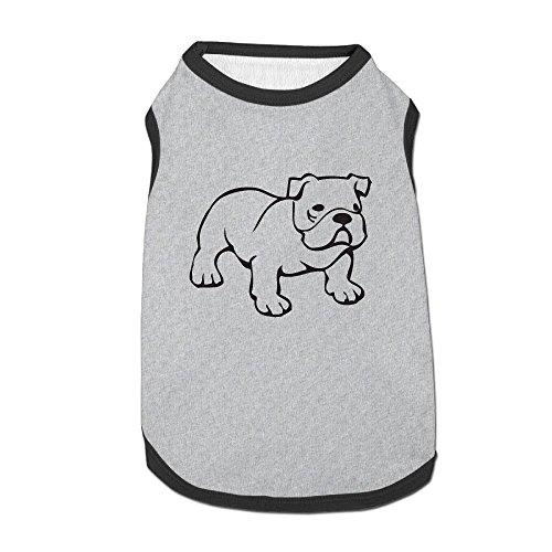 Sadly Bulldog Puppy Dogs Shirts Costume Pets Clothing Warm Vest T-shirt Small ()