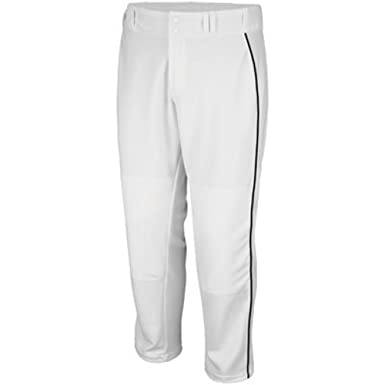 83120510c Majestic Athletic Adult Cool Base Premier Relaxed Fit Pant (White w Black  Piping