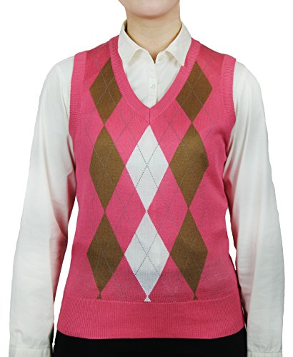 Blue Ocean Ladies Argyle Sweater Vest-X-Small ()