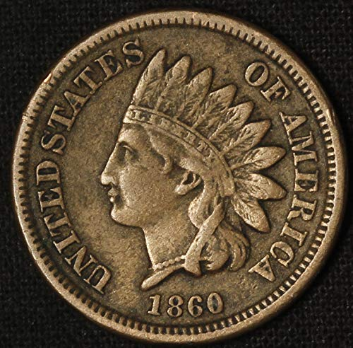 - 1860 U.S. Copper Nickel Indian Head Cent Full LIBERTY Full Rim 1c Fine to XF