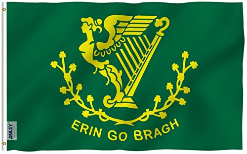 Anley Fly Breeze 3x5 Foot Erin Go Bragh Flag - Vivid Color a