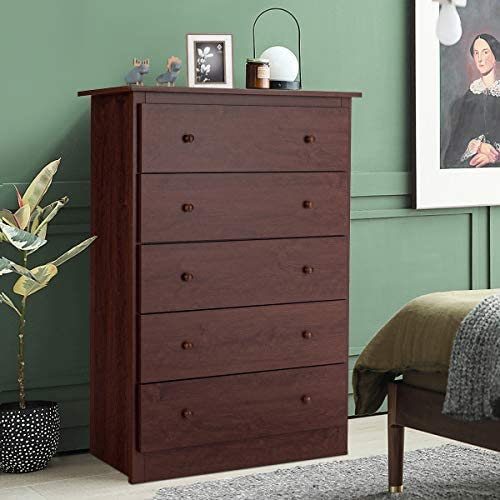 home, kitchen, furniture, bedroom furniture,  dressers 4 picture Giantex 5 Drawer Chest, Storage Dresser, Wooden Clothes in USA