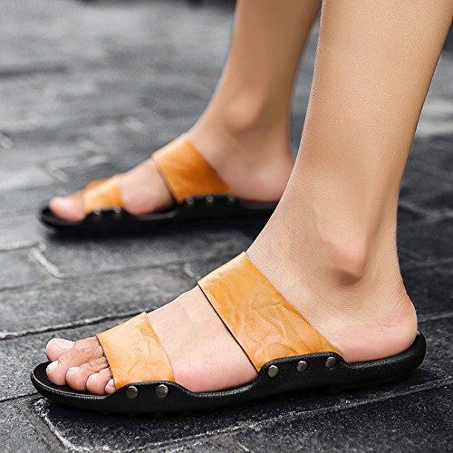 Sandals Personalidad De Verano, Chanclas, Chanclas, Chanclas, Hombre De Calzado De Playa, Sandalias, Coreano, Inglés Cool Sandalias Sandalias,44,782 Amarillo 7676c1