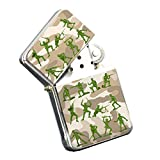 Army Men Camouflage - Silver Chrome Pocket Lighter by Elements of Space
