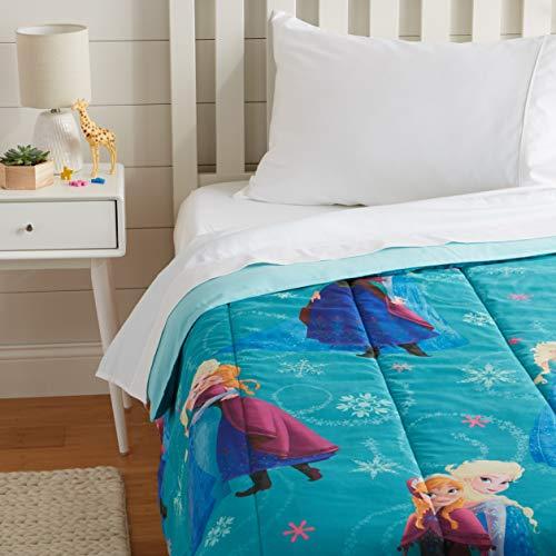 AmazonBasics by Disney Frozen Swirl Comforter, Twin (Comforters Disney For Girls)