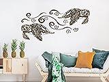 Wall Decal Turtle. Turtle Wall Stickers. Tortoiseshell Wall Art. Bathroom Wall Decals. Sea Turtle Nautical Decor. NV146