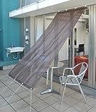 山善(YAMAZEN) ガーデンマスター 日除けシェード 1×2.2m ボーダー柄 チョコレート