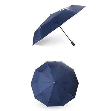 Paraguas de Viaje Compacto, Negro Ligero automático paraguas de viaje plegable, anti-UV