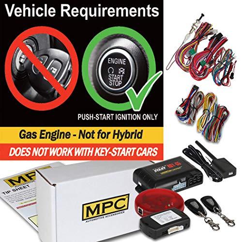 MPC Complete 1-Button Extended Range Remote Start Kit for 2014-2017 Honda Odyssey - Firmware Preloaded (Honda 2015 Odyssey Start Remote)