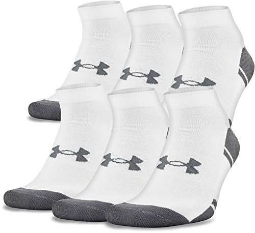 Under Armour Men's Resistor III Lo Cut Socks (6 Pack), White/Graphite, Large by Under Armour (Image #2)