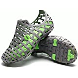 PAIRLERS Men's Beach Sandals Casual Mesh Water Shoes (7.0 D(M) US, Light_Gray)