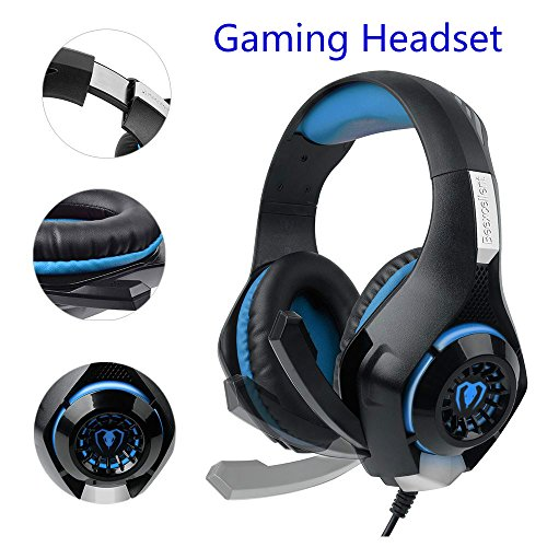 SUPERSUN Gaming Headset, Gaming Headphones Surround Sound 3.