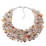 KAYMEN FASHION JEWELLERY Newest Design Fashion Luxury Statement Necklace for Womne | Wedding Party Crystals Chunky Choker Necklace by Handmade
