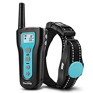Dog Training Collar 1000ft Remote 2018 Upgraded Dog Shock Collar Rechargeable & Waterproof with Beep Vibration Harmless Safe Electronic Collar for Small Medium Large Dogs