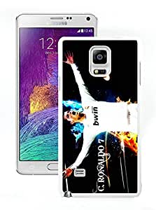 Customized Phone Case For Samsung Note 4 Cristiano Ronaldo Real Madrid 03 Cell Phone Cover Case for Samsung Galaxy Note 4 N910A N910T N910P N910V N910R4 White