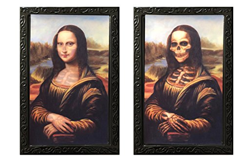 DaGou Halloween wall Decor,Halloween Trick or Treat Mega Value Party Scene Setters Wall Decorating Kit (Mona Lisa)]()