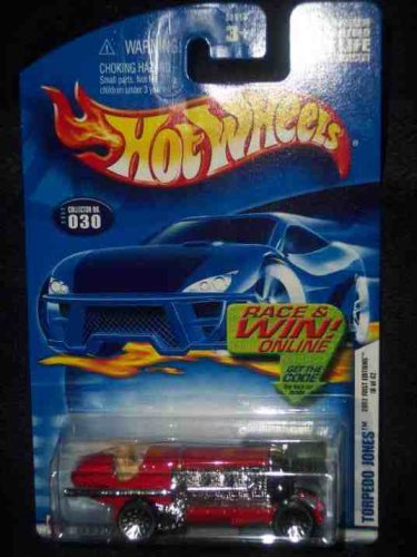 2002 First Editions -#18 Torpedo Jones #2002-30 Collectible Collector Car Mattel Hot Wheels 1:64 Scale (Torpedo Selection)