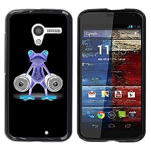 """For Motorola Moto X Motorola Moto X ( 1st Generation ) , S-type Divertido Gimnasio Bodybuilder de neón de la rana"""" - Arte & diseño plástico duro Fundas Cover Cubre Hard Case Cover"""