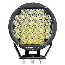 "Primelux 1 Pcs 7 inch 160W Round LED Driving Light Spot Beam for Off Road Truck SUV UTV ATV Boats (7"" 160W Black Ring)"