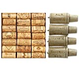Paperproducts Design 20-Pack Wine Cellar Paper Cocktail Napkins & Wine Cork Candle Set Bundle, 2 Items