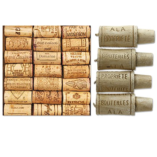Paperproducts Design 20-Pack Wine Cellar Paper Cocktail Napkins & Wine Cork Candle Set Bundle, 2 -