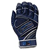 Franklin Sports Chrome Powerstrap Batting Gloves - Navy - Adult XX-Large