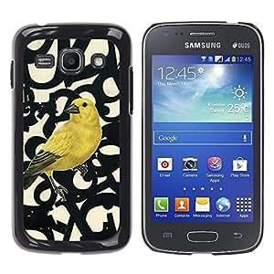 Caucho caso de Shell duro de la cubierta de accesorios de protección BY RAYDREAMMM - Samsung Galaxy Ace 3 GT-S7270 GT-S7275 GT-S7272 - Spring Bird Numbers Abstract