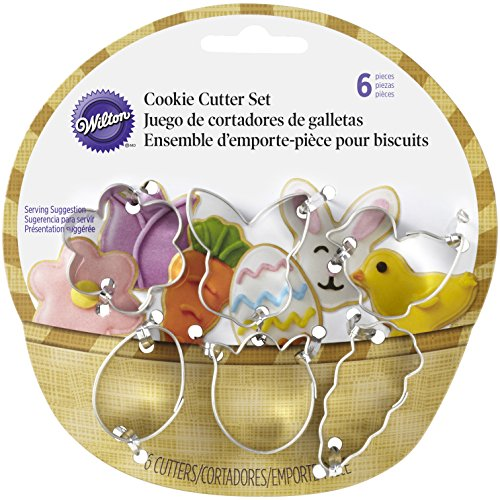 Wilton 2308-0551 6-Piece Easter Cookie Cutter Set, Mini, Assorted