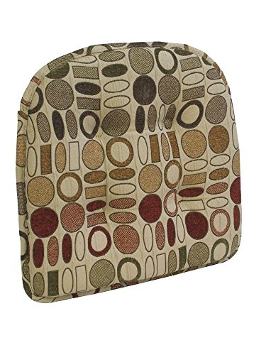 "The Gripper Corona 15"" x 16"" Tufted Chair Cushion"