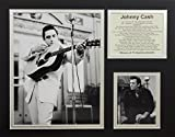 Johnny Cash - II 11'' x 14'' Unframed Matted Photo Collage by Legends Never Die, Inc.