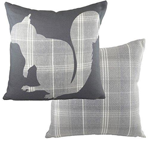 Evans Lichfield Ltd. - Cojín ardilla Stirling siluetas gris ...
