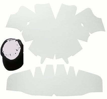 bb0dd4a65b05ad Amazon.com: 1 Pack. White-Large Baseball Cap Dome Panel Shaper and Hat  Crown Insert Combo-Flexible-Long Lasting Hat Liner-Hat Shaper 100% MBG.