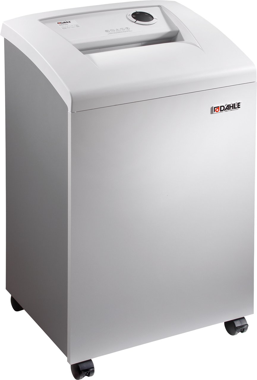 Dahle 40414 Office Shredder, 20-24 Sheet, Cross Cut, Shreds CDs, Staples, Paper Clips and Credit Cards, Security Level P-4