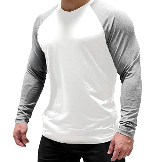 Magiftbox Mens Long Sleeve Lightweight Active Sweatshirts Gym Workout Jogging T-Shirts T15