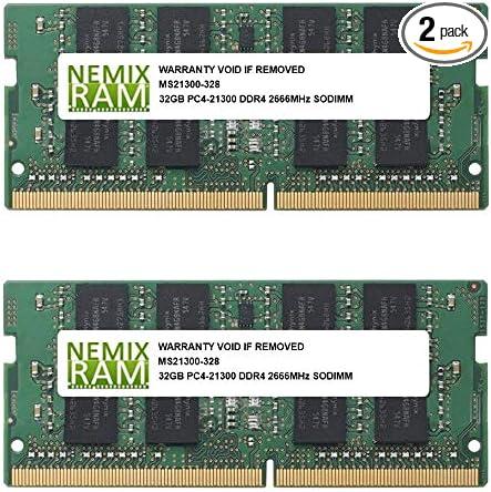 64GB 2x32GB DDR4 2666 PC4-21300 SODIMM Laptop Memory RAM