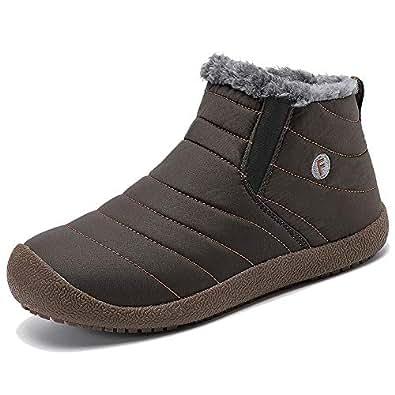 Amazon.com   YIRUIYA Mens Snow Winter Boots Anti-Slip
