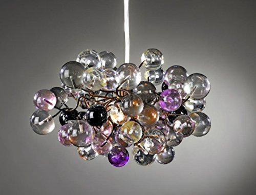 Pendant lighting - ceiling fixtures - Transparent & Purple marbles - Lamp Shades for Bedroom lighting - Children's Room lighting - Chandelier Ceiling Lights
