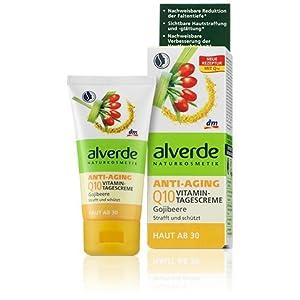 Alverde – Crème de jour vitaminée anti-âge Q10 – Baies de Goji bio – 50 ml
