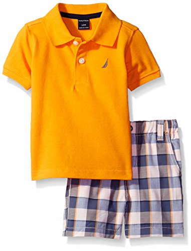 nautica-baby-boys-solid-polo-with-pattern-pull-on-short-setorange24-months