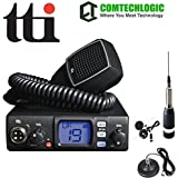 TTI TCB-560 Dynamic Squelch (DSS) 12-24V Dual Voltage CB Radio with changeable LCD Display With Comtech CM-3000ANT CB Antenna