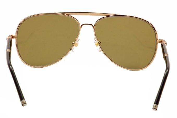 3decd595fc Mont Blanc 519S 519 S 28M Gold Brown Black Polarized Aviator Sunglasses 61mm   Amazon.ca  Clothing   Accessories