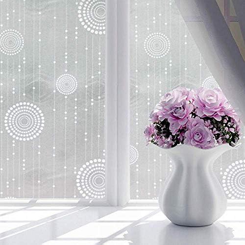 ガラスフィルム窓フィルム防水つや消し不透明ガラス窓フィルムカバー窓ガラスステッカー寝室用ホームデコレーションフィルム、90×200センチ