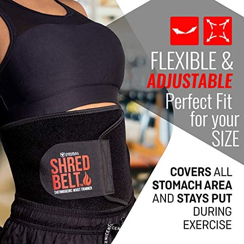 Iron Bull Strength Shred Belt V2 - Thermogenic Waist Trimmer for Men and Women - Premium Fat Burning Belt with Weight Loss Technology - Ab Toning Belt - Belly Fat Slimming Brace - Fat Burn Tummy Wrap 5