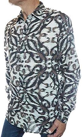 pacap Carvi - Camisa para Hombre Estilo Vintage Negro S: Amazon.es: Ropa y accesorios
