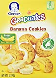 Gerber Graduates BANANA COOKIES 5oz. (Pack of 3)