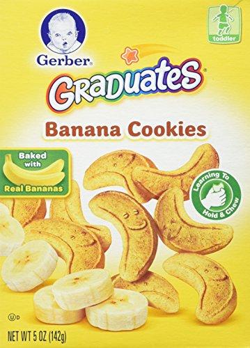 Gerber Graduates BANANA COOKIES 5oz. (Pack of 3) by Gerber