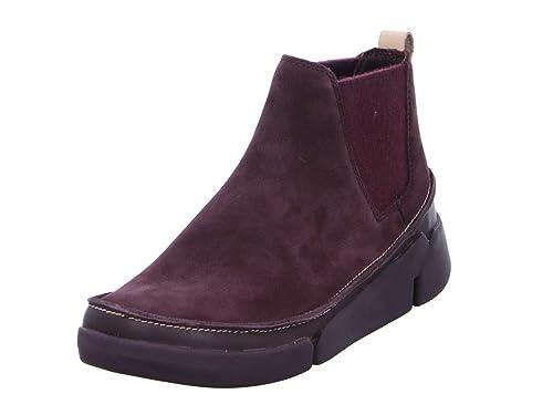 Botines de Mujer CLARKS 26135248 Tri Poppy Aubergine: Amazon.es: Zapatos y complementos