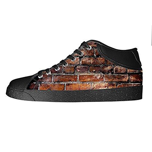 Custom struttura del muro di mattoni Mens Canvas shoes I lacci delle scarpe in Alto sopra le scarpe da ginnastica di scarpe scarpe di Tela. Calidad Superior Barato ME5vQe