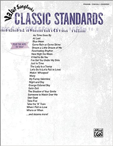 Value Songbooks Classic Standard Pianovocalchords Hal Leonard